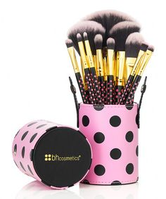 Look what I found on #zulily! Pink Polka Dot 11-Piece Brush Set by BH Cosmetics #zulilyfinds