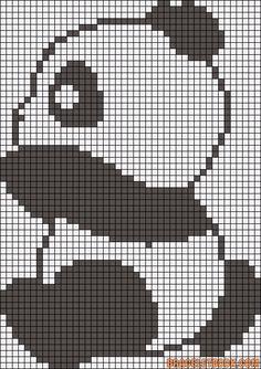 Cross Stitch Ideas panda cross stitch pattern tall x 43 squares wide) Pixel Crochet, Crochet Fox, Crochet Chart, Cross Stitch Charts, Cross Stitch Designs, Cross Stitch Patterns, Cross Stitching, Cross Stitch Embroidery, Hand Embroidery
