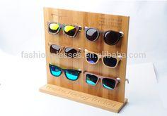 Bamboo sunglasses display, Custom design wooden sunglasses show racks/stand DS003