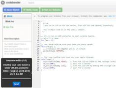 Codebender. Program your Arduino in your browser https://codebender.cc