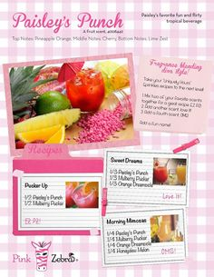 New Paisley's Punch recipe ideas from Pink Zebra for our amazing Sprinkles!! Check out www.midwestsprinkles.com