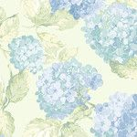 "English Florals 32.7' x 20.5"" Hydrangea Wallpaper"