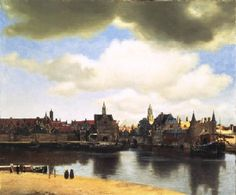 "Johannes Vermeer  ""View of Delft""  1661  Royal Picture Gallery Mauritshuis, The Hague, The Netherlands. This is where my mom was born."