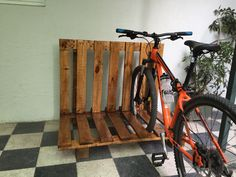 Bicicletero hecho con Pallets