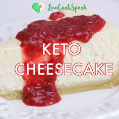 This Keto Cheesecake is the creamiest, smoothest, easiest, silkiest, dessert recipe baked in the oven that's always a hit. I will give you all the tips & tricks to make a perfect sugar-free cheesecake Best Keto Cheesecake Recipe, Sugar Free Cheesecake, Low Carb Desserts, Low Carb Recipes, Dessert Recipes, Keto Postres, Comida Keto, Keto Diet Benefits, Starting Keto Diet
