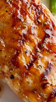 Bobby Flay's Grilled Chicken Breasts with Spicy Peach Glaze Peach Chicken, Glazed Chicken, Lemon Chicken, Food Network Recipes, Cooking Recipes, Healthy Recipes, Peach Glaze Recipes, Peach Recipes Dinner, Chicken Marinade Recipes