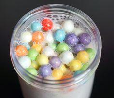 Soft Serve Confetti Sundae Fluffy Slime XL w/ Rainbow Funfetti Large Beads