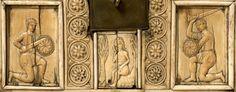 Front of a Byzantine Ivory Casket, Centuries Byzantine Icons, Byzantine Art, 12th Century, Casket, Warriors, Folk Art, Roman, Medieval, Ethnic