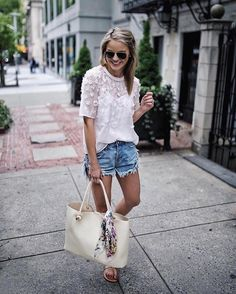 """32.8k Likes, 98 Comments - LIKEtoKNOW.it (@liketoknow.it) on Instagram: """"Add a feminine feel to your weekend tee and cutoffs combo care of @styledsnapshots's sheer floral…"""""""