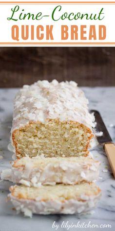 Coconut Quick Bread, Coconut Bread Recipe, Best Homemade Bread Recipe, Coconut Milk Recipes, Quick Bread Recipes, Lime Desserts, Just Desserts, Dessert Recipes, Fruit Bread