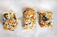 Making chewy energy packed homemade cherry-coconut-almond (with a hint of lime) trail mix bars