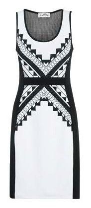 Joseph Ribkoff Dress. White & Black.  Matching jacket available.