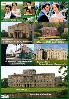 Pride and Prejudice Film Locations 1995 -