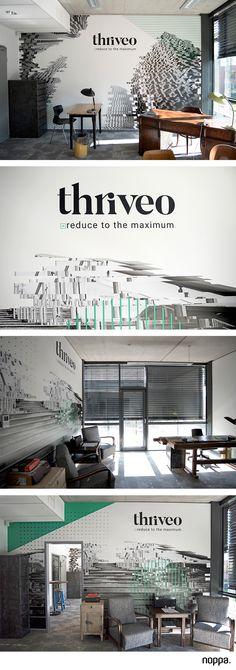 Walldesign for Thriveo   #wallsticker #walldesign #office #officedesign #pixels #design #noppadesign #decoration #officedecor #officedecoration #interiordesign #officeinterior