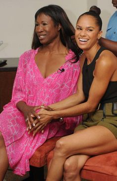 Lauren Anderson (the first black female principal dancer at a major American company) with Misty Copeland (the first black female principal ballerina at the American Ballet Theatre Company) together at the Kingdom Builders' Center in Texas on July 27, 2015