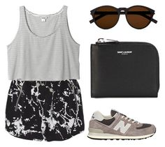 """""""Untitled #298"""" by cigerett ❤ liked on Polyvore featuring Zimmermann, Monki, New Balance and Yves Saint Laurent"""