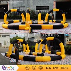 890.00$  Watch now - http://alie46.worldwells.pw/go.php?t=32754002422 - Free Delivery Outdoor toys 8M Oxford nylon cloth Inflatables air kart track barriers for kids
