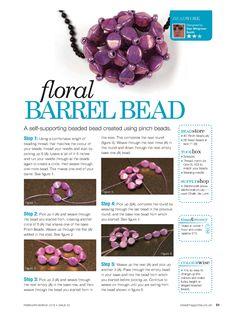 Floral Barrel Beads - 1/3 - Beading beads