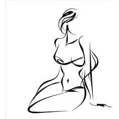 Aktzeichnen Female Drawing, Female Art, Figure Sketching, Figure Drawing, Art Sketches, Art Drawings, Minimal Drawings, Outline Art, Abstract Line Art