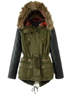Commander en XL Women Winter Warm Faux Leather Sleeves Hoodie Parka Jacket Coat Outerwear (XL ( US 12-14 ), Army green) TRURENDI http://www.amazon.com/dp/B00QI73JHA/ref=cm_sw_r_pi_dp_wLKbvb1A705HW