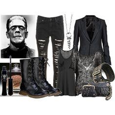 Frankenstein, created by beyondthewallofsleep on Polyvore