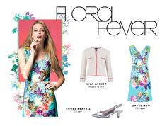 flower dress silver shoes ecru jacket from vilagallo