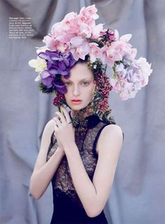 floral headdress