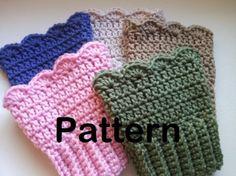 Free Boot Cuff Knit Pattern | Pattern: Crochet Scalloped Boot Cuffs | Meylah