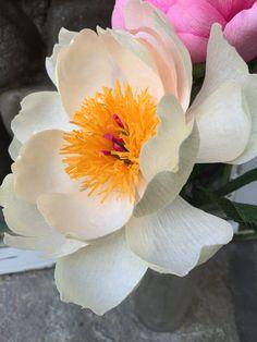 KREPP-Papier Blume Charm Korallen-Pfingstrose von PinkCherryMama