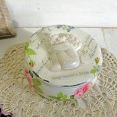 Decoupage box, wooden shabby shic box, angel box, roses by MissDecoupage on Etsy