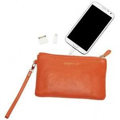 Chargeable Mighty Purse. Genuine Leather iPhone Case and Wristlet. $89