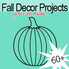 Its time for fall, and with that comes my favorite DIY decor projects. This round-up is full of ways to bring autumn into your decorating, from Halloween pumpkin crafts to Thanksgiving themed printables, and everything in between.