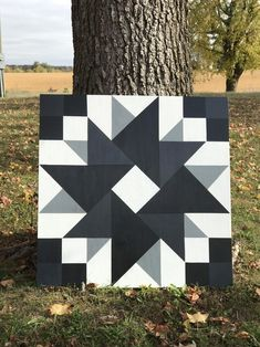 Barn Quilt Designs, Barn Quilt Patterns, Quilting Designs, Quilting Ideas, Indoor Crafts, Dyi Crafts, Wood Crafts, Painted Barn Quilts, Barn Art