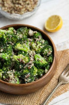 Salad Recipe: Creamy Broccoli-Quinoa Salad  #salad #recipes #glutenfree #vegan