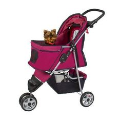 Pink Pet Dog Stroller Strollers Carrier Carriers Crate Crates Kennel Cage Jogger