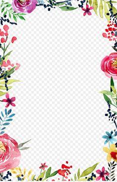 Modern Wedding Invitation Wording, Creative Wedding Invitations, Flower Boarders, Flower Frame, Wedding Borders, Boarders And Frames, Wedding Cards Handmade, Floral Border, Flower Border Png