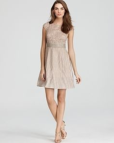 Kay Unger Dress - Sequin Bodice, pockets and beautiful sequin overlay.  fit me well, perfect for Navid's engagement party.