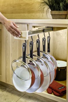 Awesome Glideware Pull Out Cabinet organizer for Pots and Pans