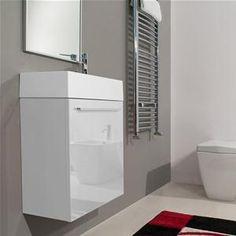 Mobile salvaspazio 46 cm bianco per arredare un bagno piccolo completo di specchio