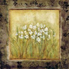 Framed Daisys Artwork 35.38x35.38