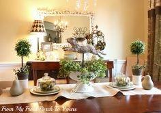 Beautiful Spring Dining room! From My Front Porch to Yours