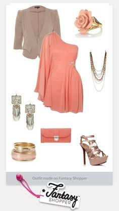 Coral outfit created on Fantasy Shopper