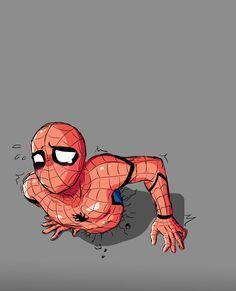 Deadpool must be on the other side 😏 Deadpool Y Spiderman, Spiderman Art, Amazing Spiderman, Spideypool, Superfamily, Marvel Venom, Marvel Art, Marvel Avengers, Marvel Funny