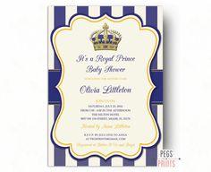 Real el príncipe Baby Shower invitaciones  poco por PegsPrints