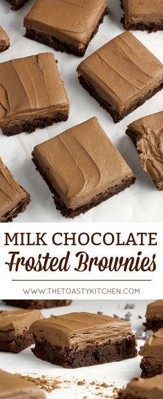 Brownie Frosting, Cookie Brownie Bars, Chocolate Frosting, Cookie Desserts, Sweet Desserts, Chocolate Desserts, Easy Desserts, Sweet Recipes, Delicious Desserts