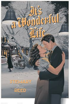 It's a Wonderful Life - movie poster - Laurent Durieux
