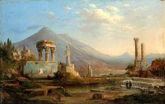 Vesuvius and Pompeii - Robert Duncanson 1870