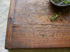 Antique Bread Board Hand Hewn Beauty by stilllifestyle on Etsy
