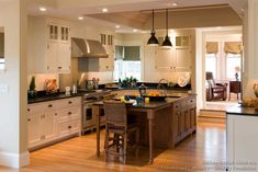 #Kitchen Idea of the Day: Traditional Two-Tone Kitchens Gallery - (By Crown Point Cabinetry)