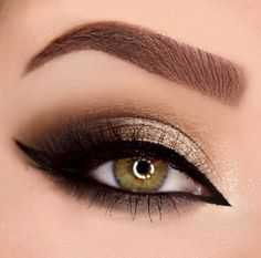 Bronze and gold smokey eye. LOTUS No. 75